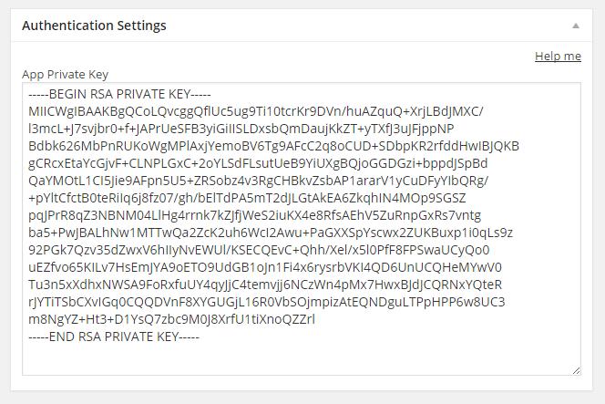 App private key