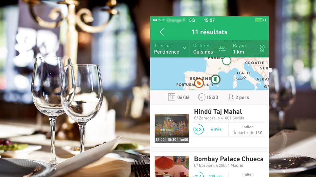 La Fourchette App Screenshot