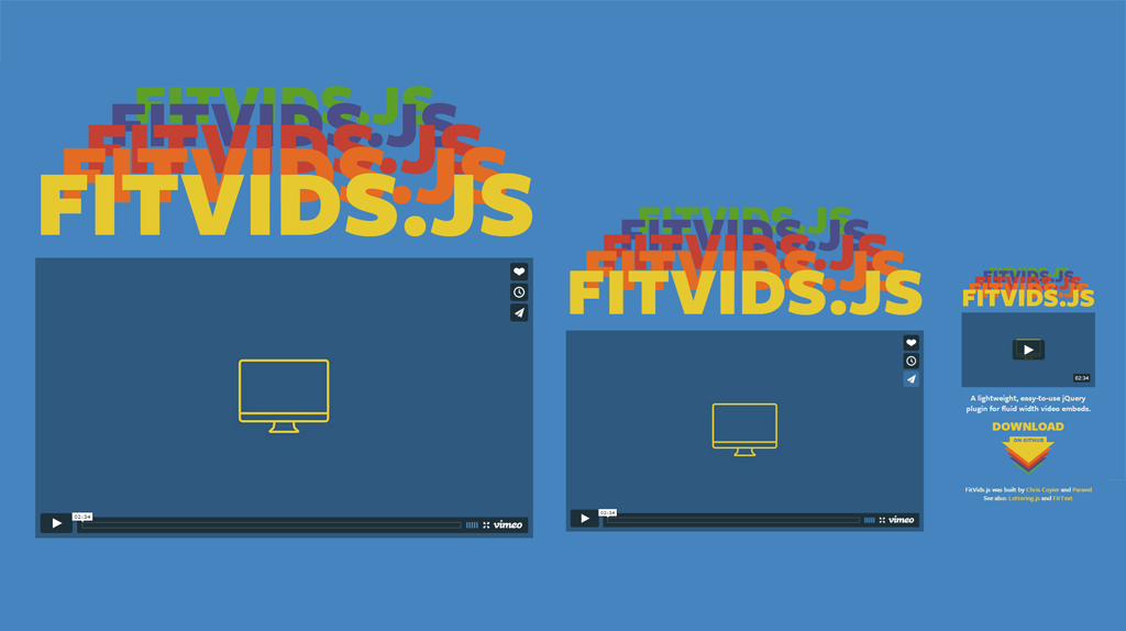Fitvids.js is a Javascript library you can use to create responsive video embeds.
