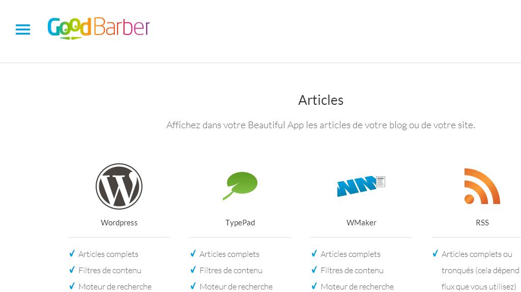 Good Barber's WordPress Connector