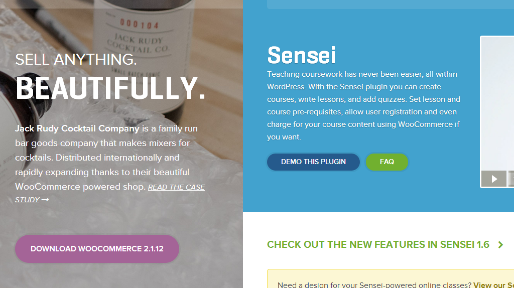 From Woo Commerce (eCommerce) to Woo Sensei (Learning Management System), Woo Themes pushes the natural boundaries of WordPress.